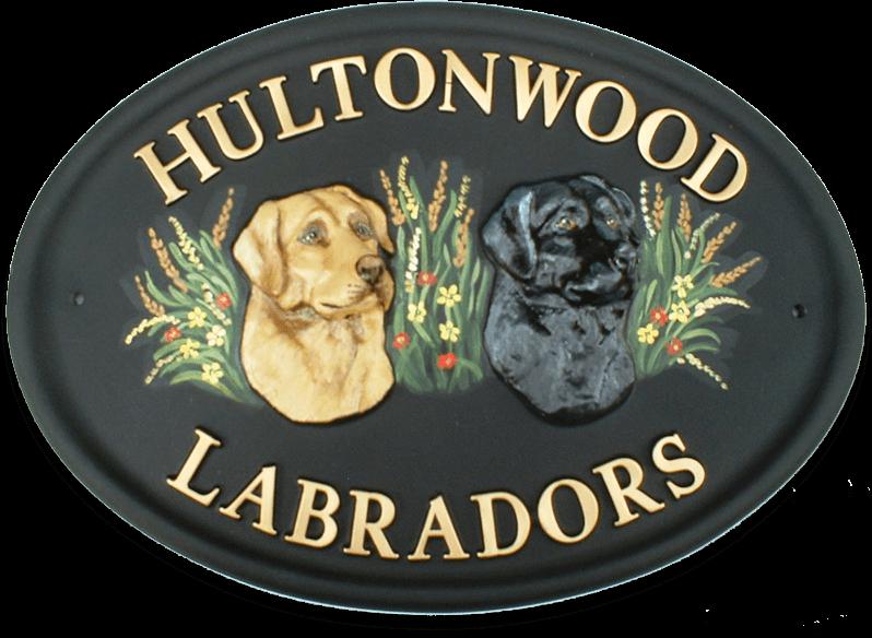 Labrador Heads house sign