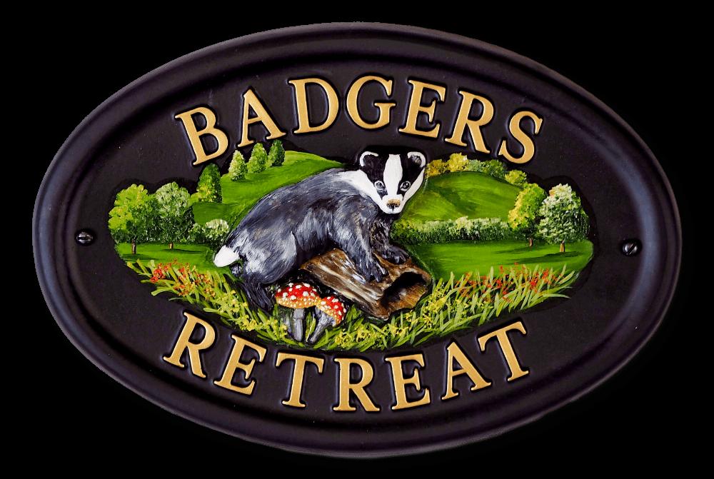 Badger house sign