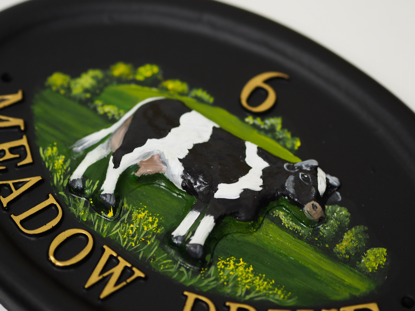 Cow Close Up house sign