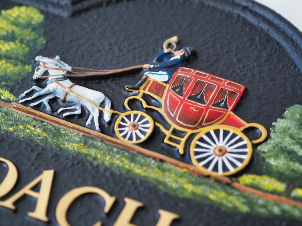 Coach & Horses close-up house sign