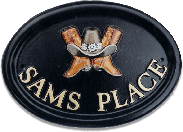 Cowboy Boots house sign