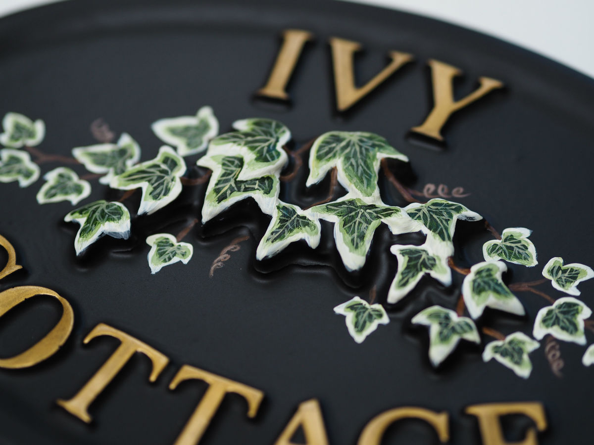 Ivy Close Up house sign