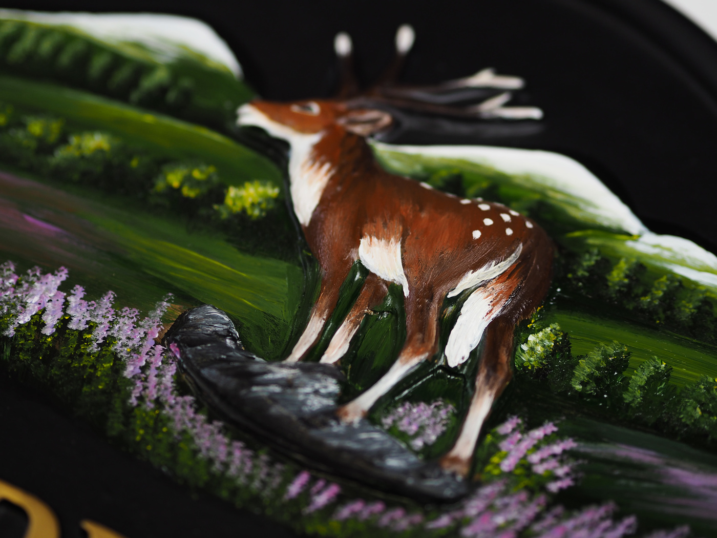 Deer With Hills Close Up house sign