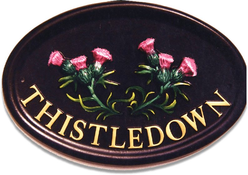 Thistles house sign