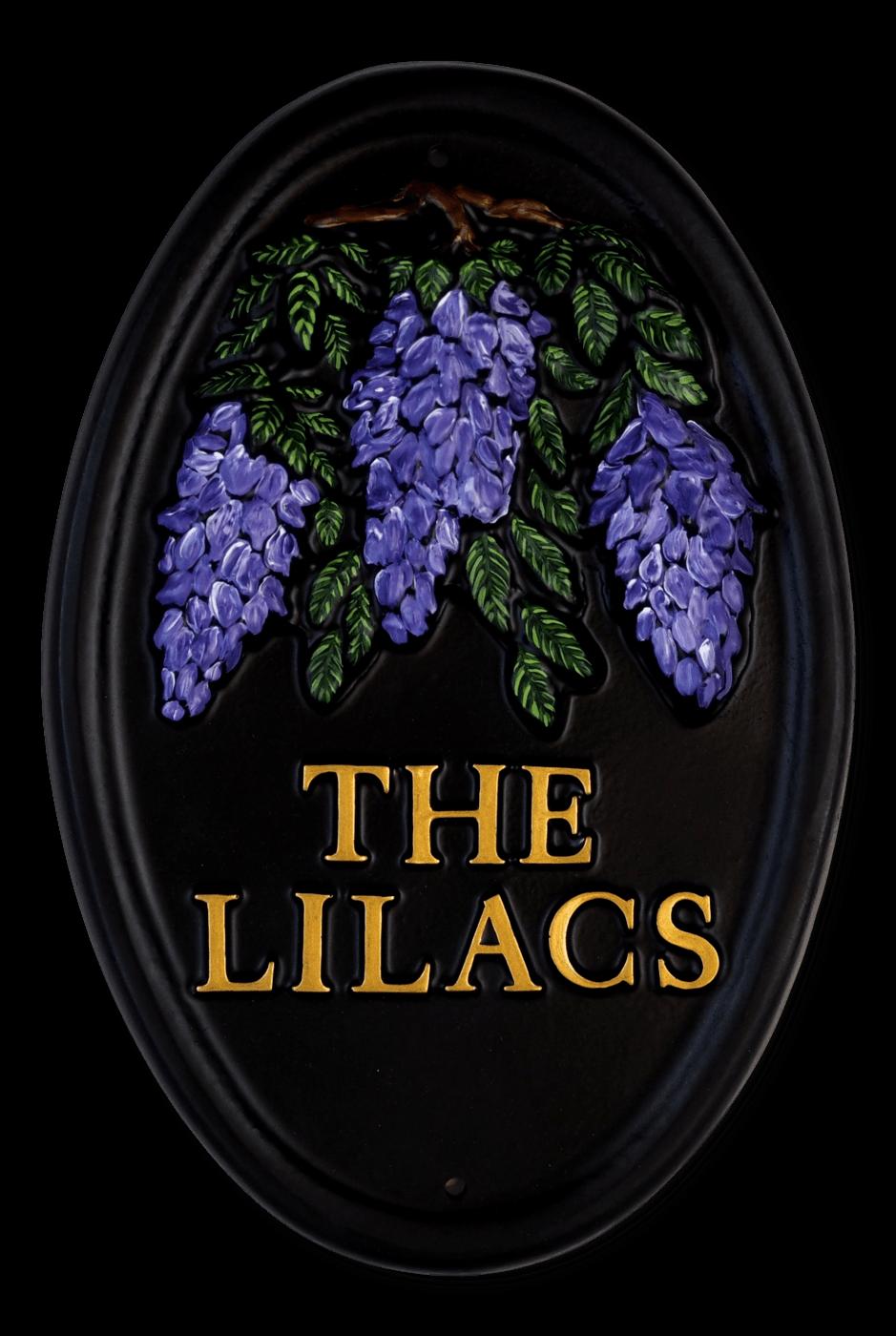 Lilac Portrait house sign