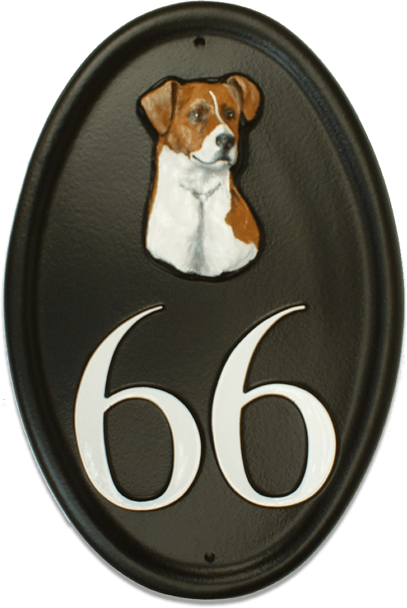 Jack Russel Head house sign