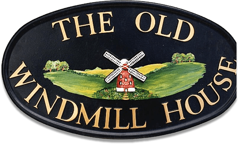 Windmill house sign