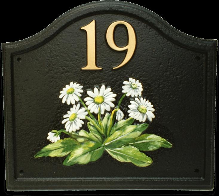 Daisy house sign
