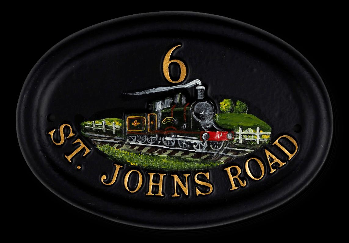 Steam Train house sign