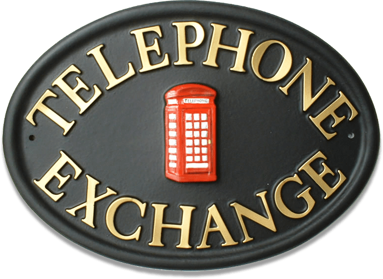 Telephone Box house sign
