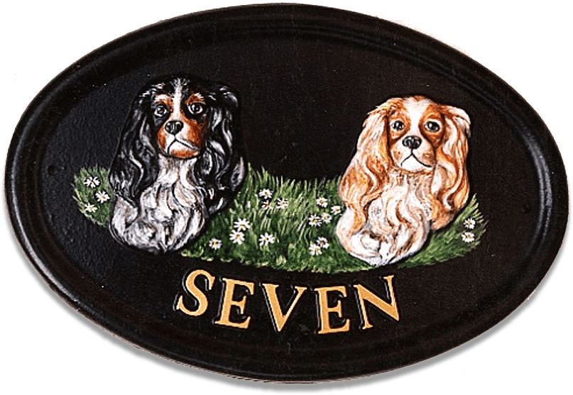 Cavalier King Charles Cavaliers house sign