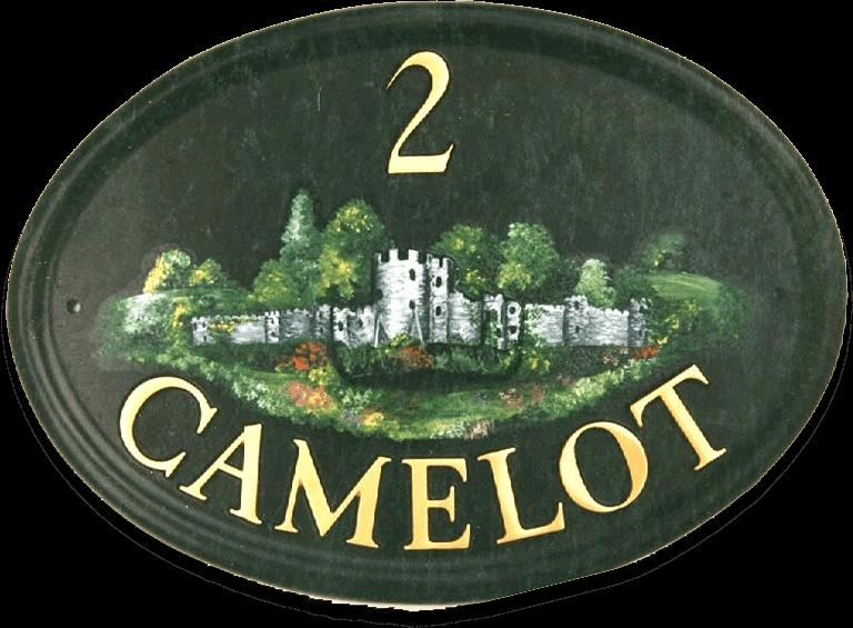 Castle house sign
