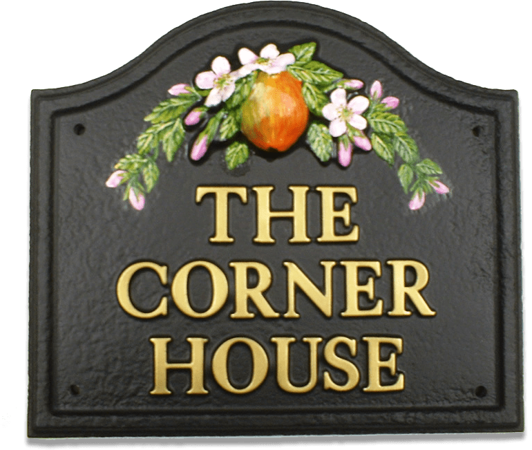 Apple And Blossom house sign