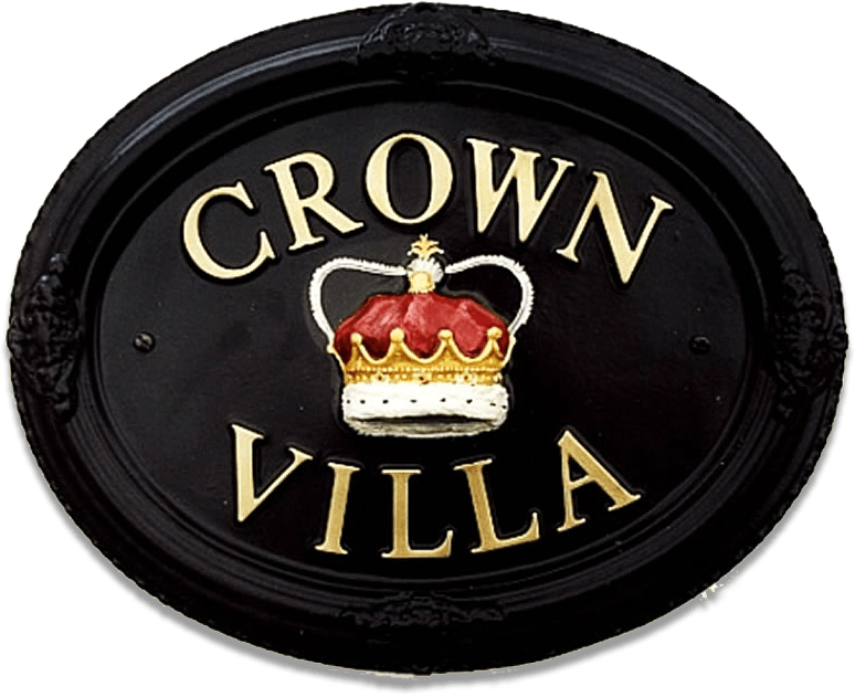Crown house sign