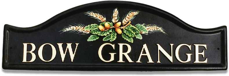 Acorns And Wheat house sign