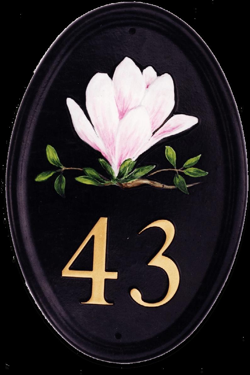 Magnolia Portrait house sign