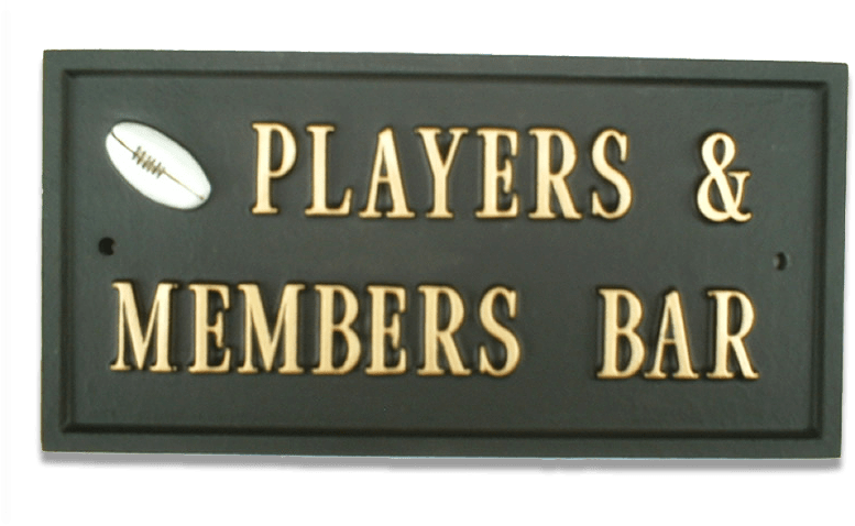 Rugby Ball house sign