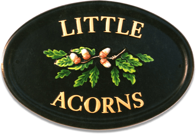 Acorns house sign