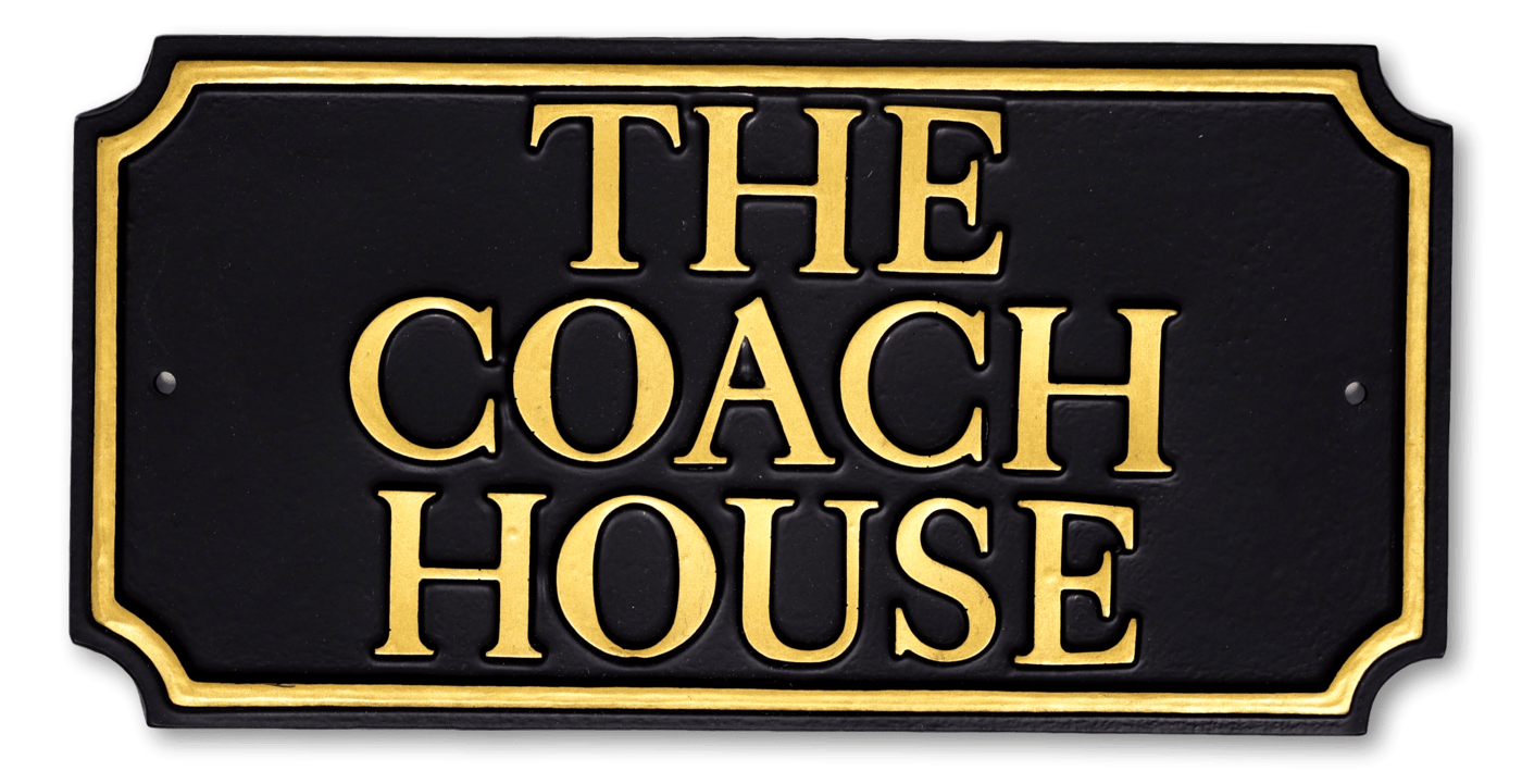 Rectangle Scalloped Corners house sign