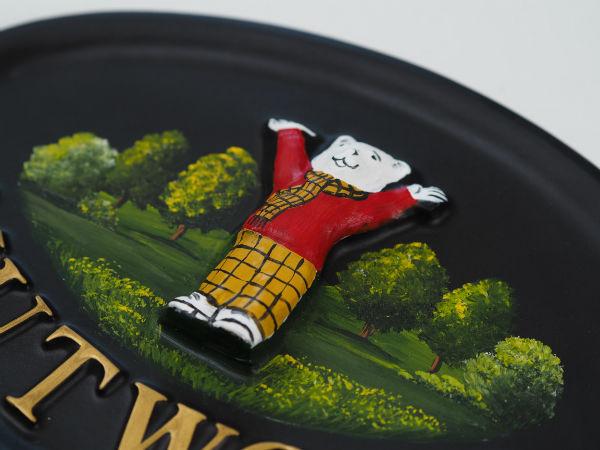 Rupert Bear Close Up house sign