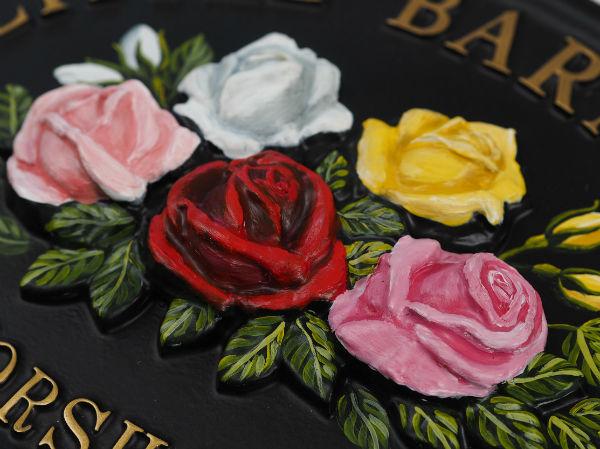 Roses Mixed Close Up house sign