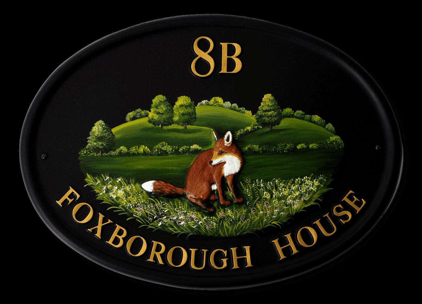 Fox Sitting house sign