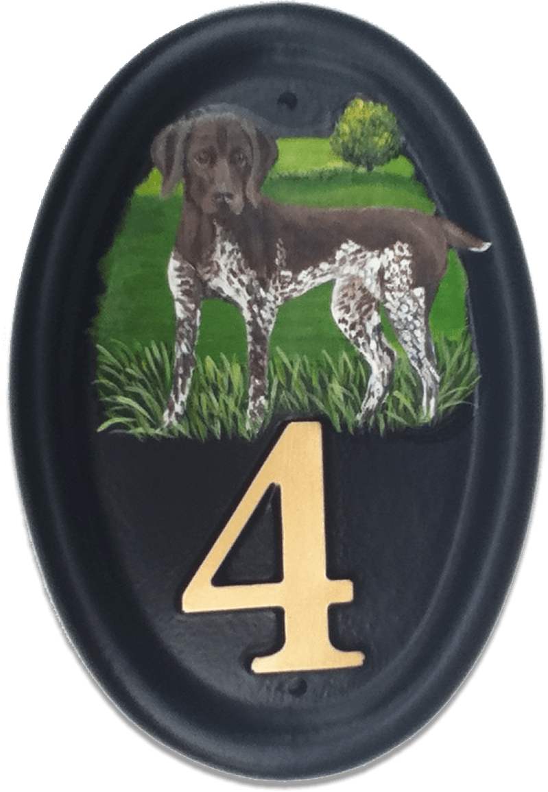 German Pointer house sign
