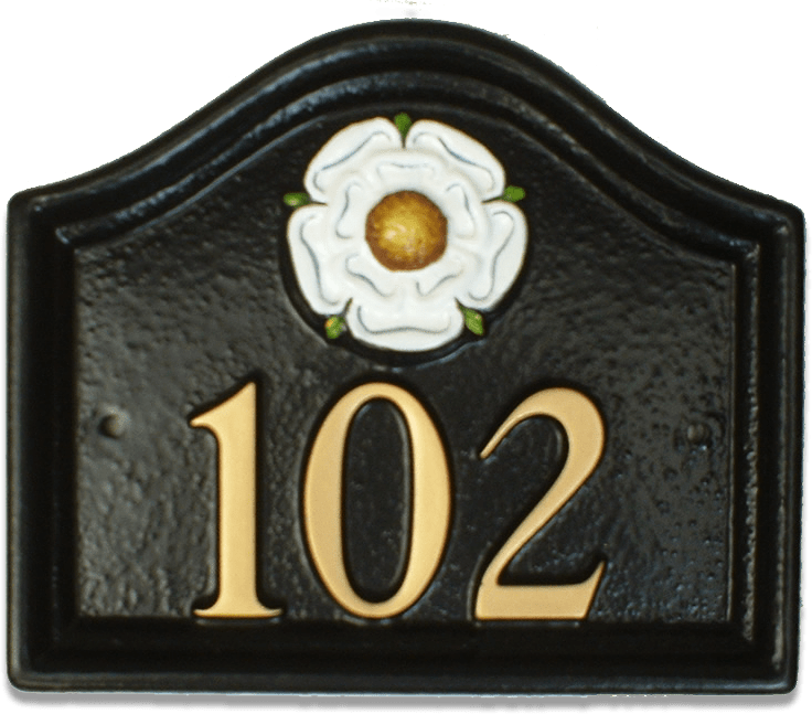 Yorkshire Rose house sign