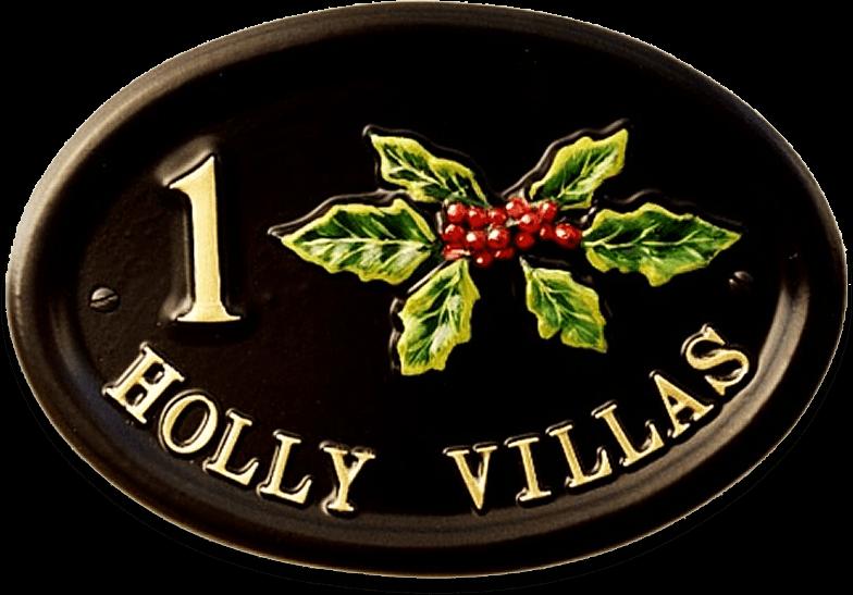 Holly Split house sign