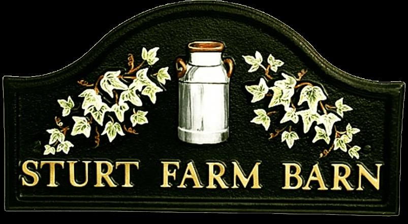 Milk Churn house sign