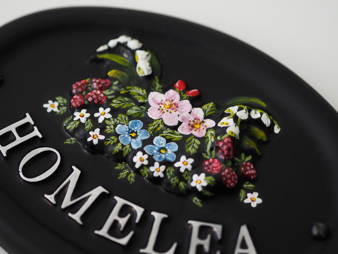 Woodland Flowers Close Up house sign