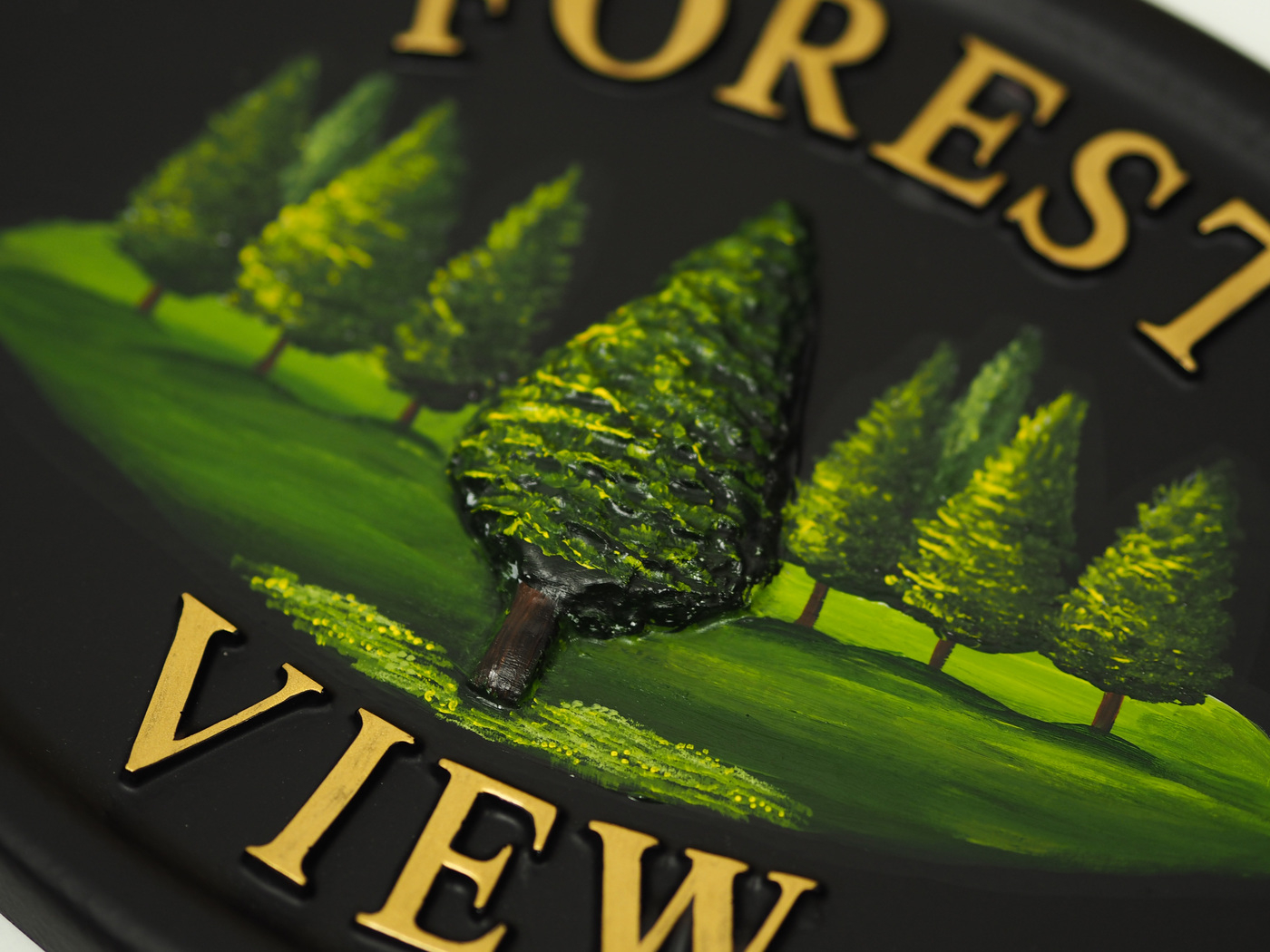 Pine Small close-up. house sign
