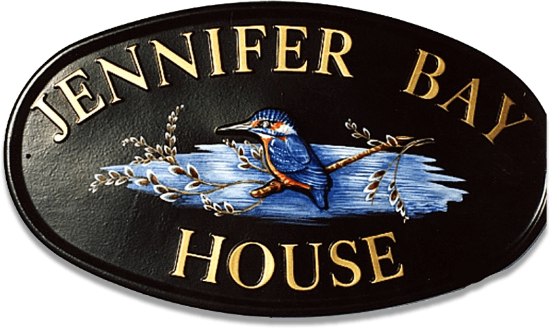 Kingfisher house sign