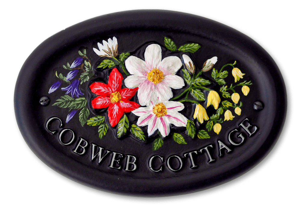 Clematis Mixed house sign
