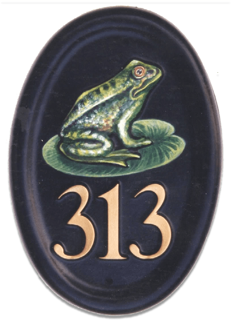 Frog house sign