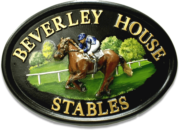 Race Horse house sign