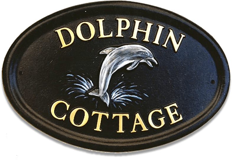 Dolphin house sign