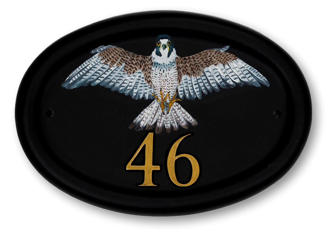 Peregrine Falcon Flat Painted house sign