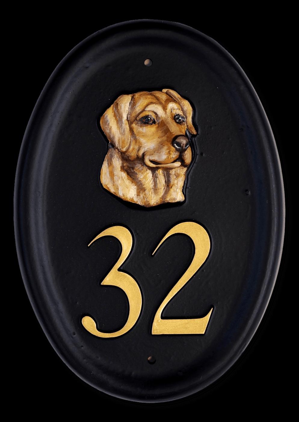 Labrador Head house sign