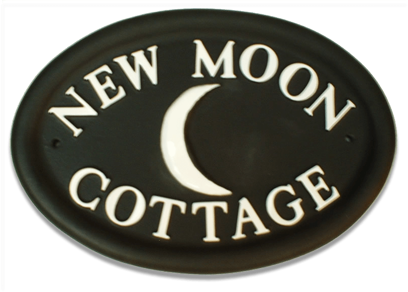 New Moon house sign