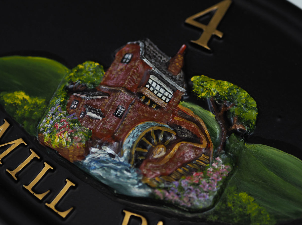 Watermill Close Up house sign