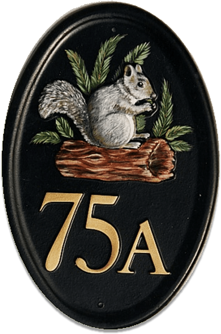 Squirrel house sign