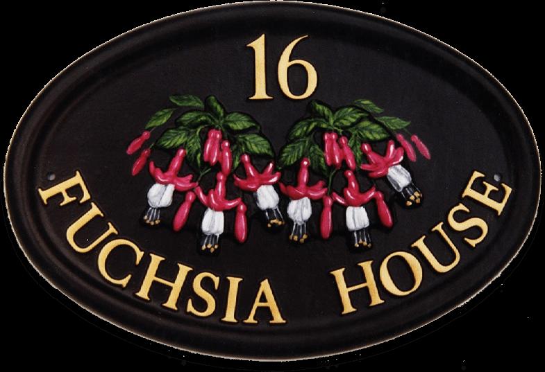 Fuchsia house sign