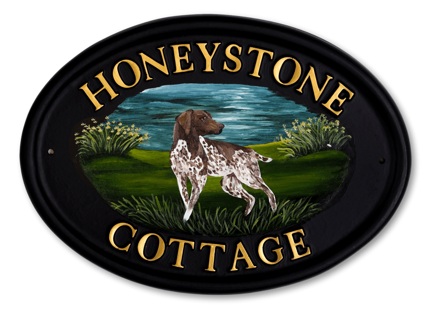 German Pointer Flat Painted house sign