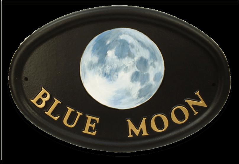 Blue Moon house sign