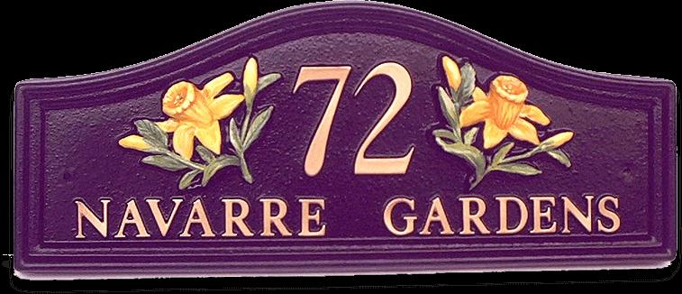 Daffodils Split house sign