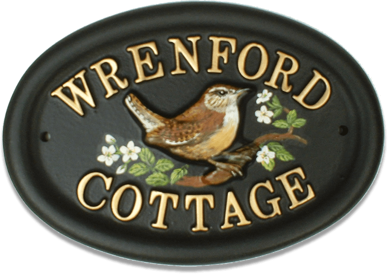 Wren house sign