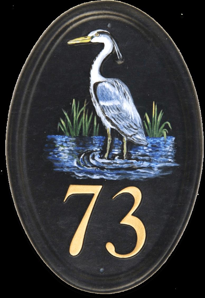 Heron house sign