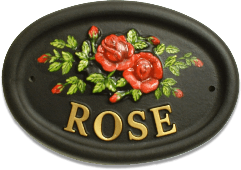 Roses house sign
