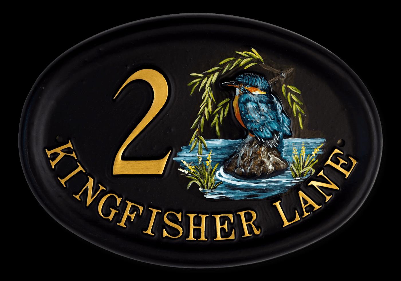 Kingfisher Split Design house sign